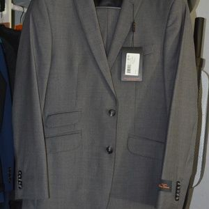Ben Sherman slim skinny 2-piece suit BNWT Mid grey
